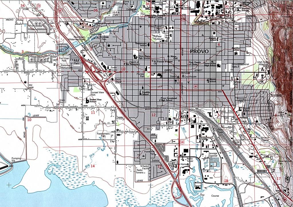 Utah Maps - Perry-Castañeda Map Collection - Ut Library Online - Printable Map Of St George Utah