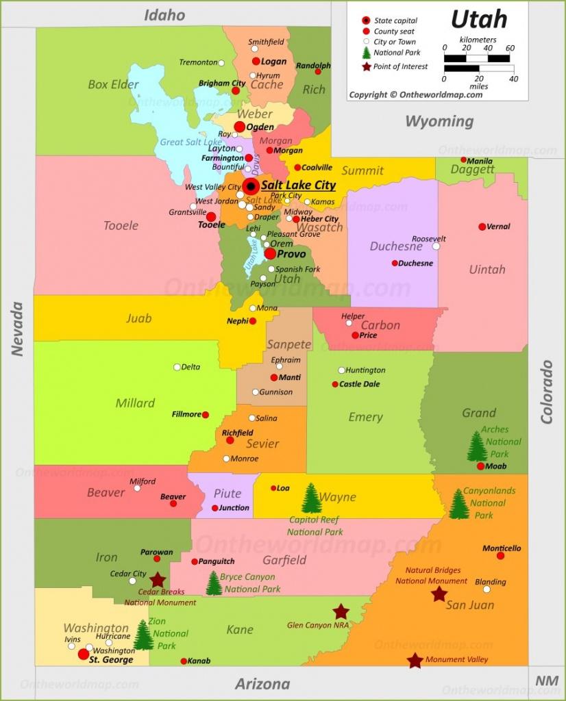 Utah State Maps | Usa | Maps Of Utah (Ut) - Printable Map Of Utah National Parks