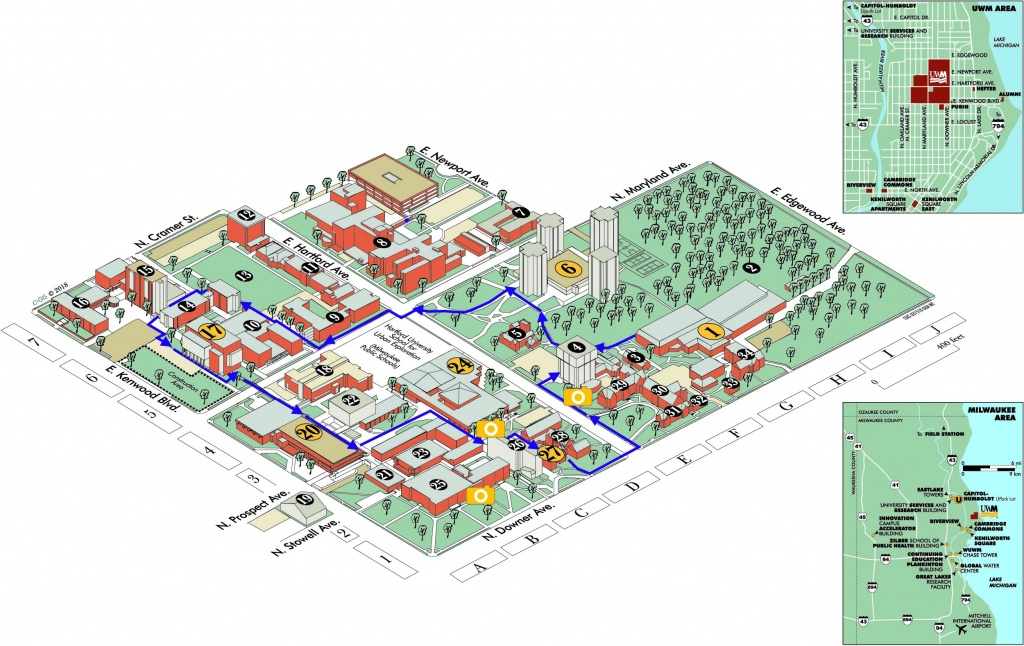 Uwm Campus Map | University Of Wisconsin Milwaukee Online Visitor's - Printable Uw Madison Campus Map