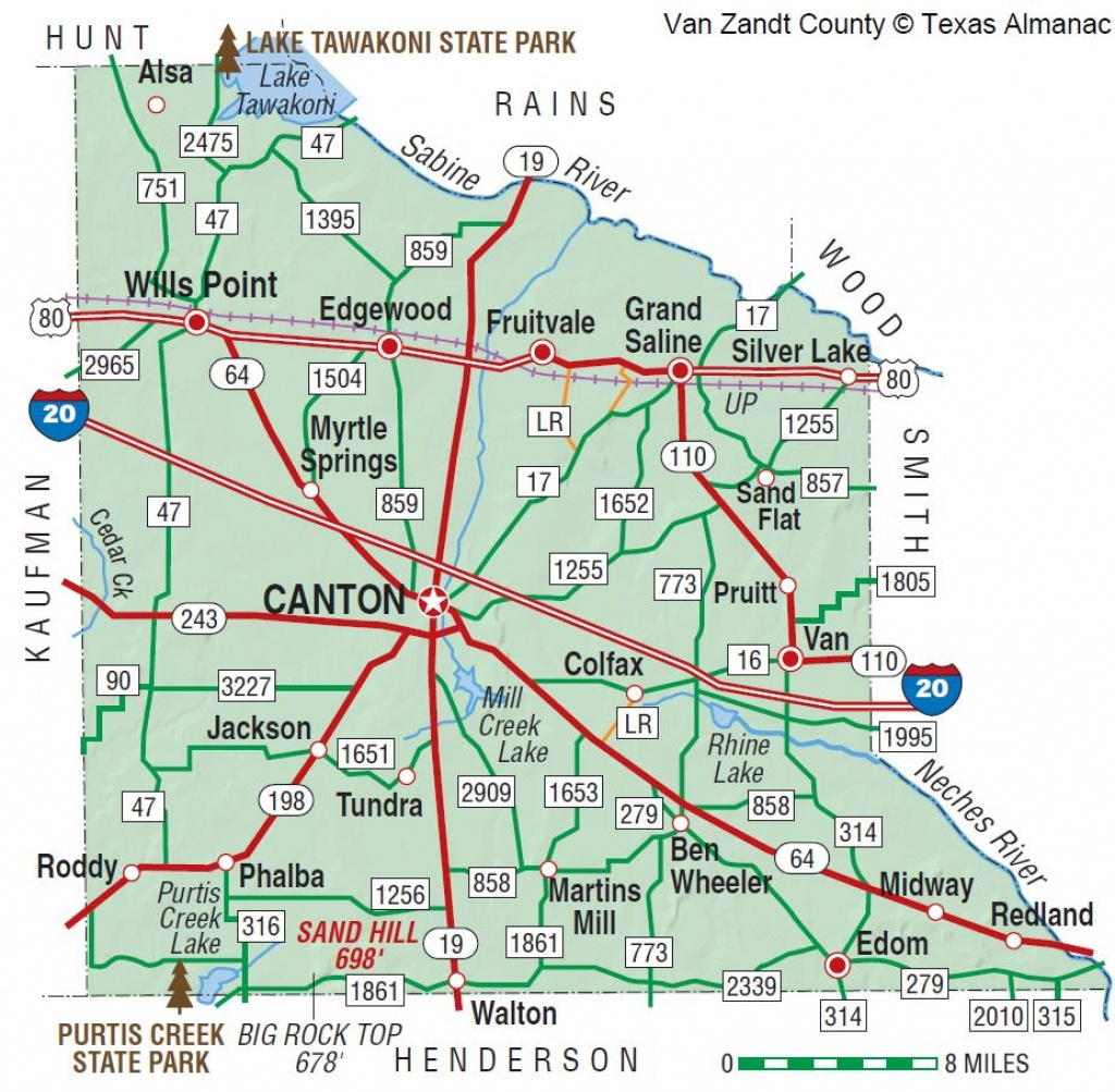 Van Zandt County | The Handbook Of Texas Online| Texas State - Canton Texas Map