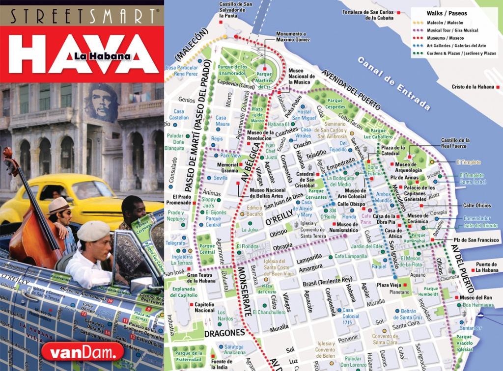 Vandam - Cuba & Havana Maps, Hot Off The Press - Havana City Map Printable