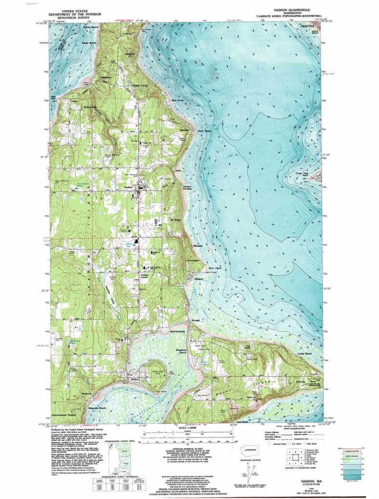 Vashon Topographic Map, Wa - Usgs Topo Quad 47122D4 - Vashon Island Map Printable