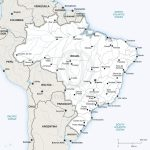 Vector Map Of Brazil Political | One Stop Map   Printable Map Of Brazil