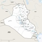 Vector Map Of Iraq Political | One Stop Map   Printable Map Of Iraq