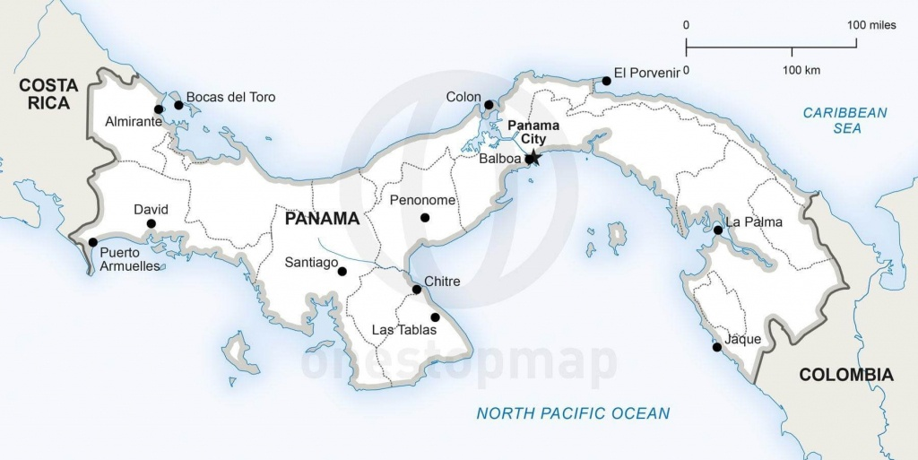 Vector Map Of Panama Political | One Stop Map - Printable Map Of Panama