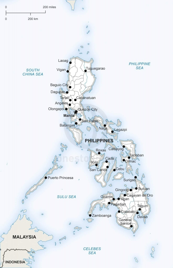 Vector Map Of Philippines Political   One Stop Map - Printable Map Of The Philippines