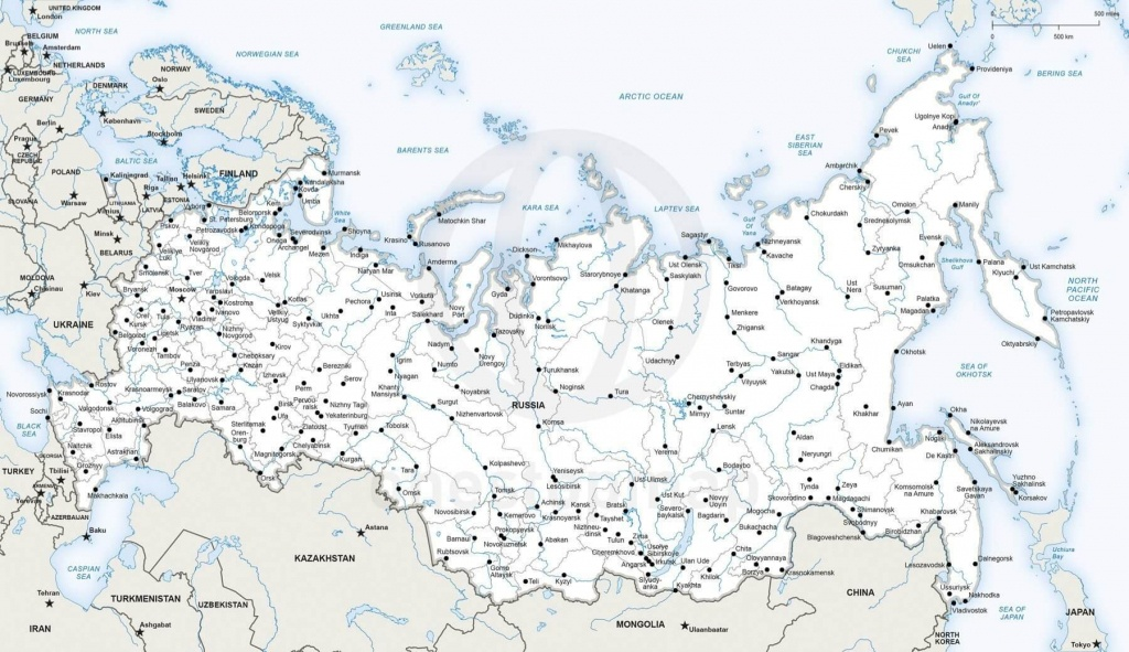 Vector Map Of Russia Political   One Stop Map - Printable Map Of Russia