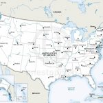 Vector Map Of United States Of America | One Stop Map - Printable State Maps With Cities