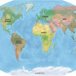 Vector Map World Relief Continents Political | One Stop Map   Printable Map Of Continents
