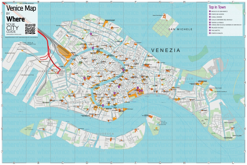 Venice City Map - Free Download In Printable Version | Where Venice - Street Map Of Venice Italy Printable