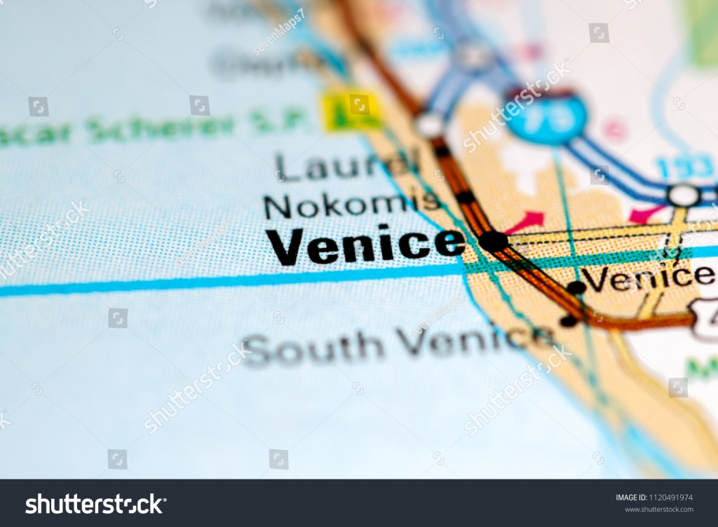 Venice Florida Usa On Map Stock Photo (Edit Now) 1120491974 - Map Of South Venice Florida