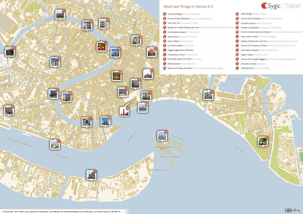 Venice Printable Tourist Map | Sygic Travel - Tourist Map Of Venice Printable