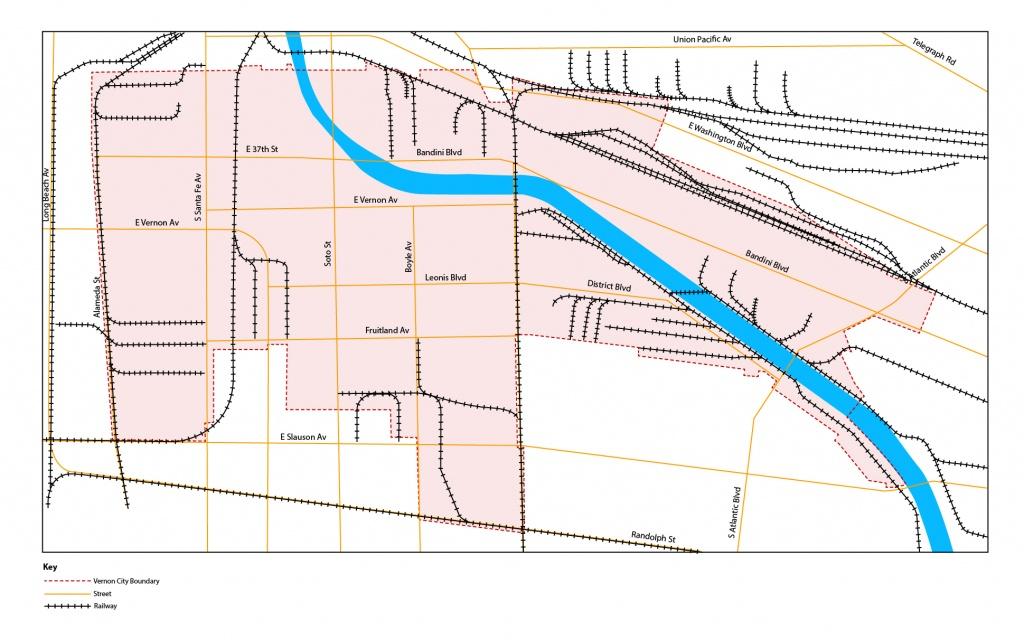 Vernon, California – Second L.a. Market | Klein Commercial Real Estate - Vernon California Map