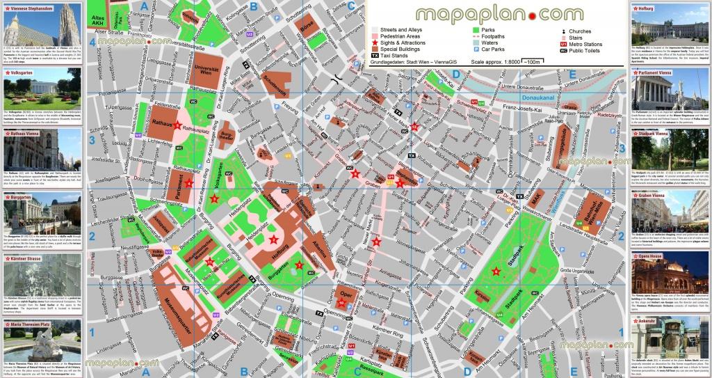 Vienna Maps - Top Tourist Attractions - Free, Printable City Street - Printable Tourist Map Of Vienna