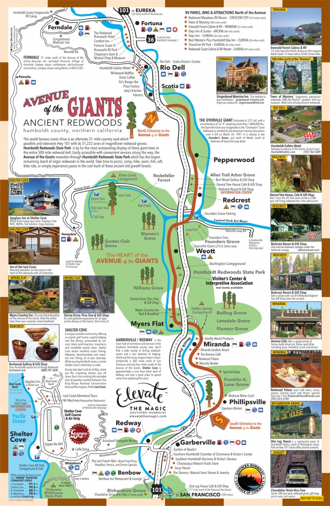 View Map | Avenue Of The Giants - Avenue Of The Giants California Map