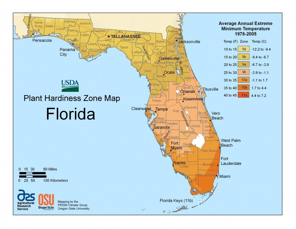 View Maps   Usda Plant Hardiness Zone Map   Garden Zones   Florida - Usda Map Florida