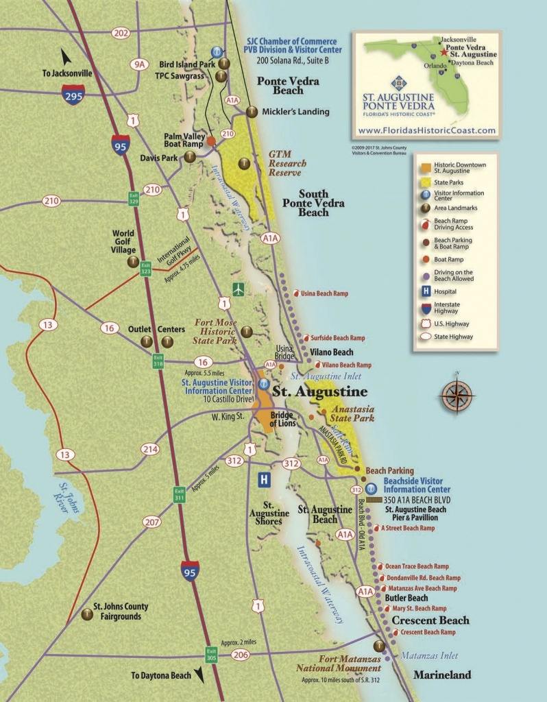 View St. Augustine Maps To Familiarize Yourself With St. Augustine - Map Of St Johns County Florida