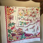 Vintage California State Souvenir Tablecloth With Map (Pre Disney   Vintage California Map Tablecloth