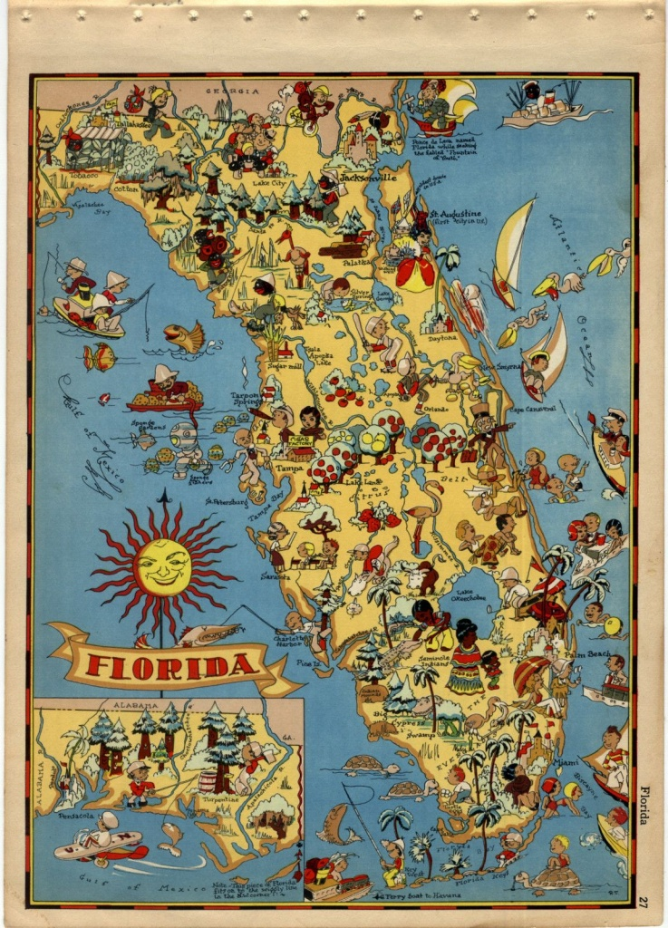Vintage Florida Map | Obsessed With Maps  In 2019 | Old Florida - Florida Map Artwork