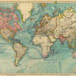 Vintage Map Of The World 30 X 46.5 Print Onancientshades   Old - Vintage World Map Printable
