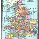 Vintage Printable   Map Of England And Wales | World Of Maps   Printable Map Of Wales