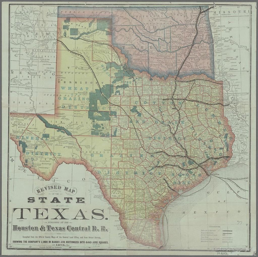 "Vintage Texas State Map""vintage Designs   Redbubble - Vintage Texas Map"