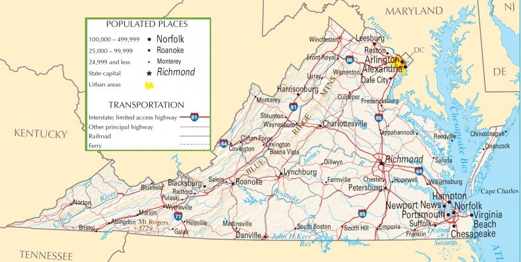 Virginia Highway Map - Printable Map Of Virginia