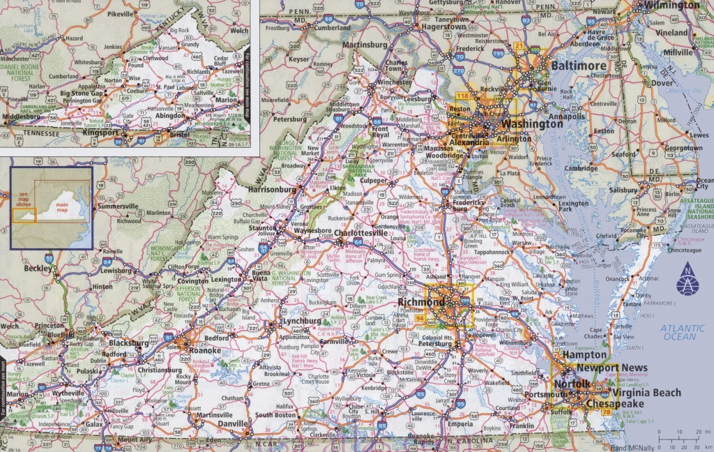 Virginia Road Map - Printable Map Of Virginia