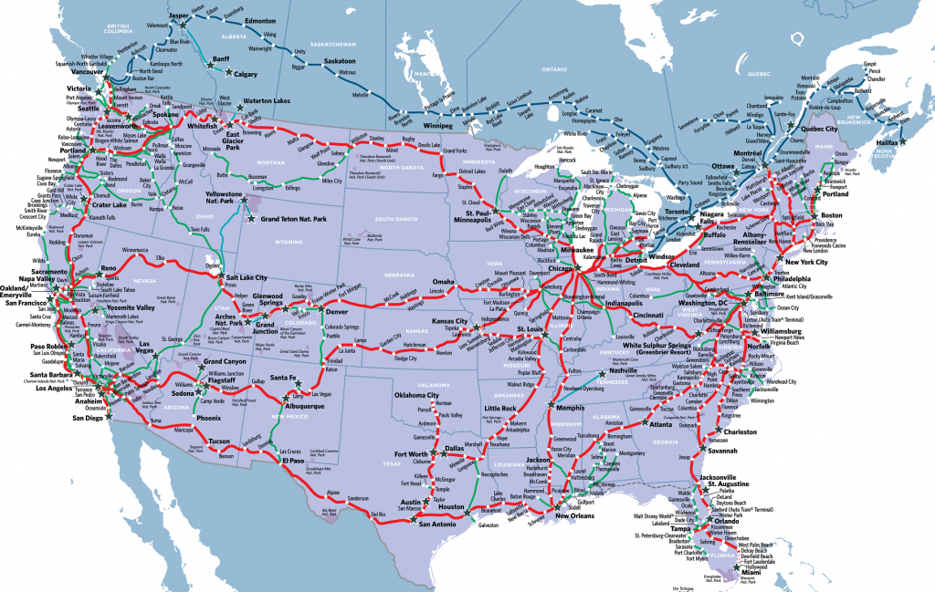 Visit America's Most Stunning National Parkstrain In 2019 - Amtrak California Zephyr Route Map