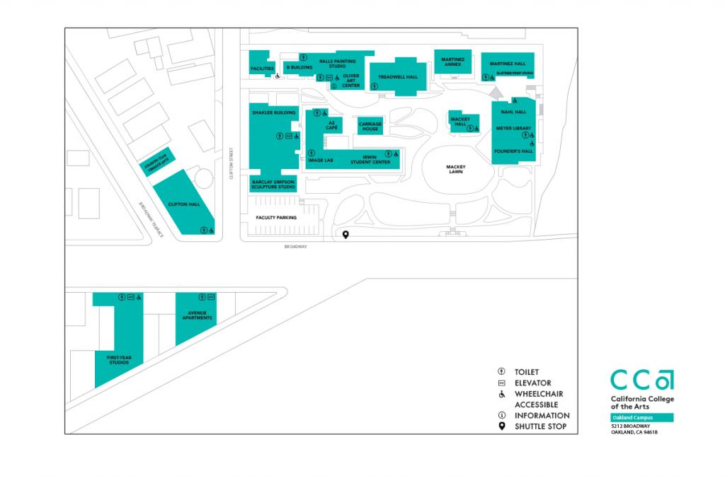 Visit California College Of The Arts   Cca - California Institute Of The Arts Campus Map