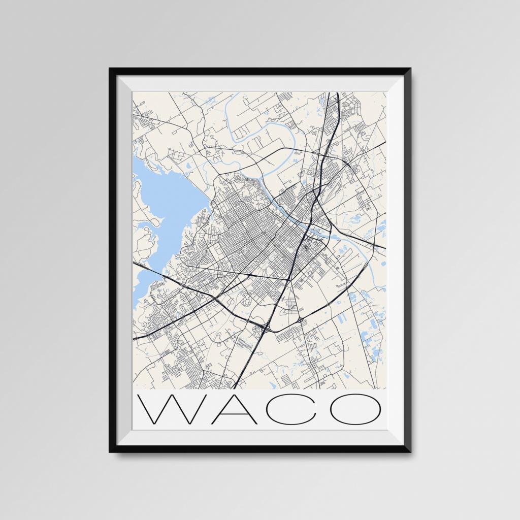 Waco Texas Map Waco City Map Print Waco Map Poster Waco | Etsy - Printable Map Of Waco Texas