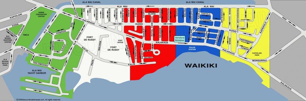 Waikiki Street Map - Printable Map Of Waikiki