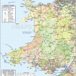 Wales 1St Level County Road & Rail Map @1M Scale In Illustrator And   Printable Map Of Wales