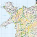 Wales Offline Map, Including Anglesey, Snowdonia, Pembrokeshire And   Printable Map Of Wales