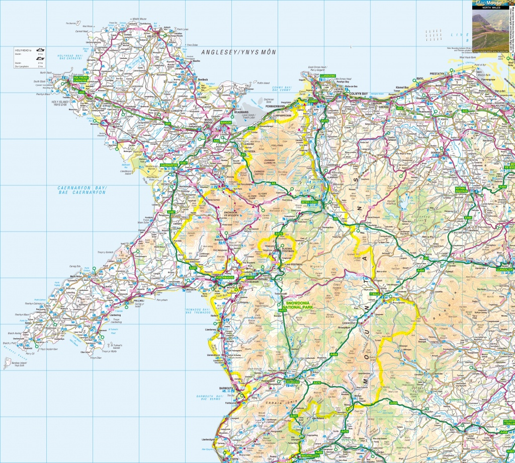 Wales Offline Map, Including Anglesey, Snowdonia, Pembrokeshire And - Printable Map Of Wales