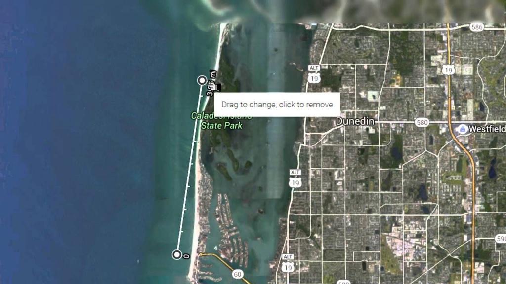 Walk From Pier 60 Clearwater Beach To Caladesi Island State Park - Honeymoon Island Florida Map