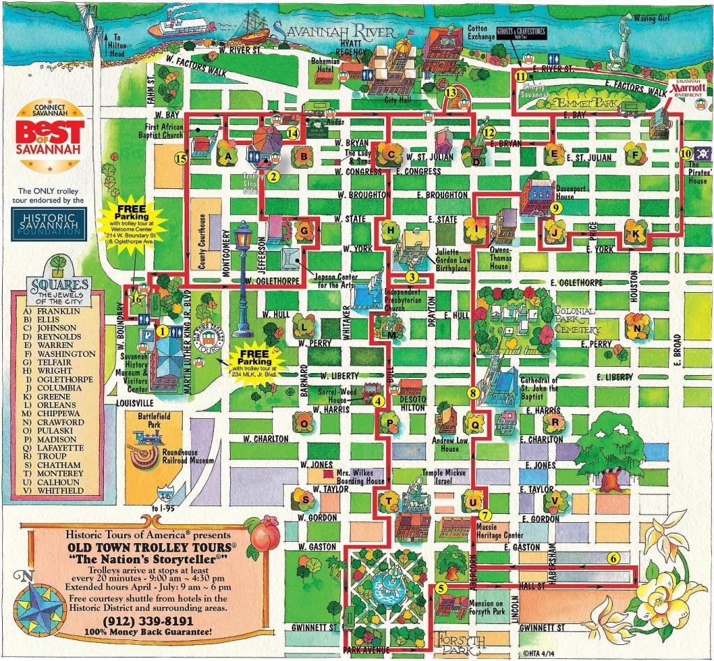 Walking Map Savannah Historic District | Map For Savannah Georgia - Printable Map Of Savannah Ga Historic District