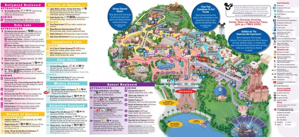 Walt Disney World Map 2014 Printable   Walt Disney World Park And - Printable Disney Park Maps