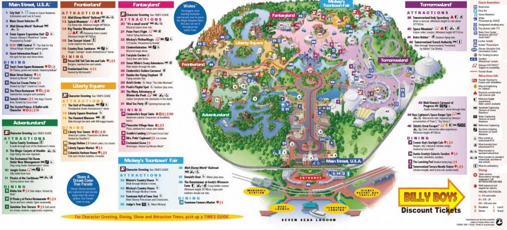 Walt Disney World Map Orlando Florida 7 - World Wide Maps - Magic Kingdom Orlando Florida Map