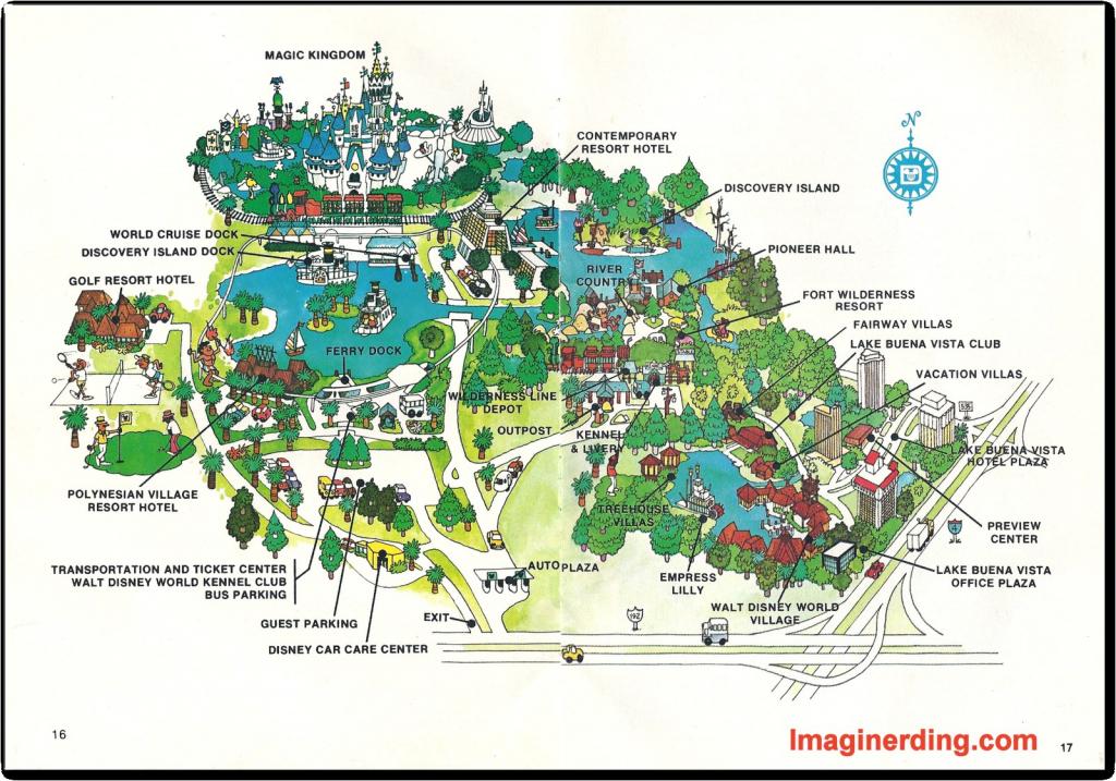 Walt Disney World Map - World Wide Maps - Walt Disney Florida Map