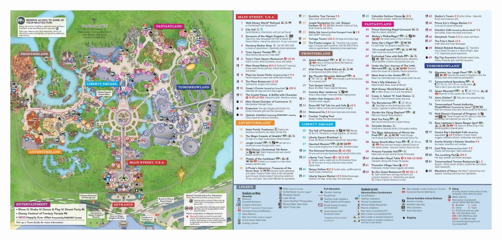 Walt Disney World Park Guide Maps - Blog Mickey - Disney Florida Maps 2018