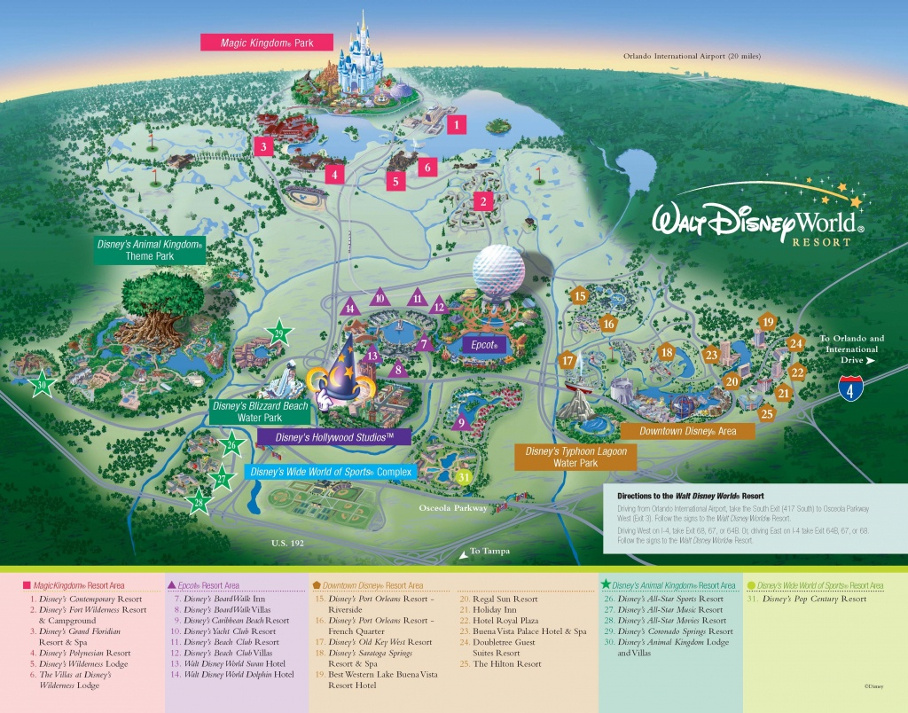 Walt Disney World - Resorts - Resort Map | Voyages. | Disney, Voyage - Printable Disney World Maps