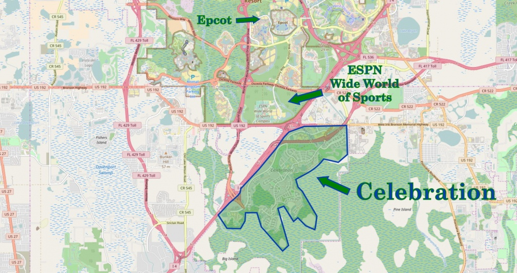 Walt Disney World Subdivision Florida Overview | Navfile - Celebration Florida Map
