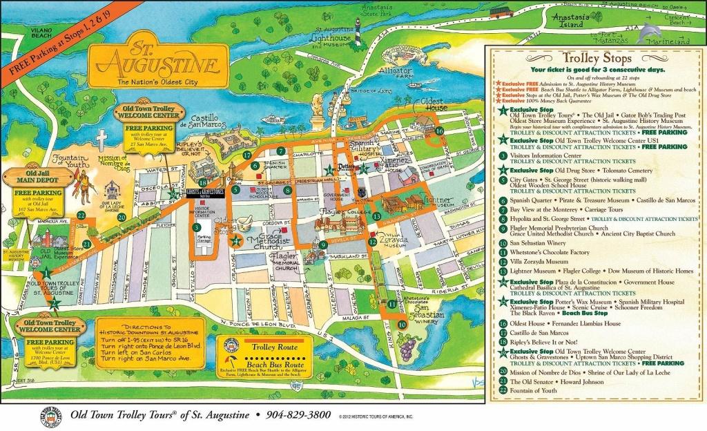 Walt Disney World To St. Augustine: A Florida Road Trip - Polka Dots - St Augustine Florida Map