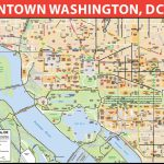 Washington, D.c. Downtown Bike Map   Printable Map Of Washington Dc