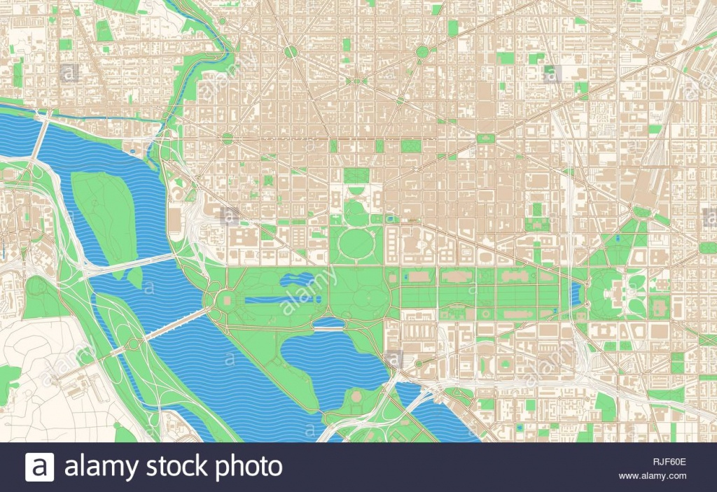 Washington D.c. Printable Map Excerpt. This Vector Streetmap Of - Printable Map Of Downtown Dc