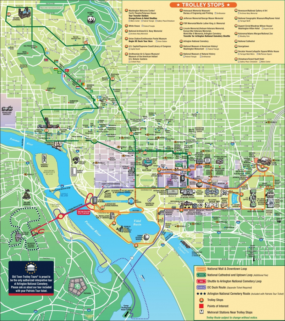 Washington, D.c. Tourist Attractions Map | Favorite Places & Spaces - Arlington Cemetery Printable Map