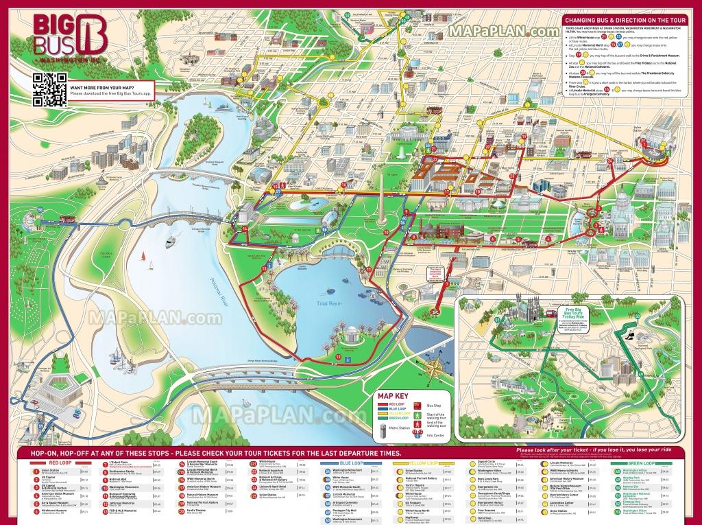 Washington Dc Maps - Top Tourist Attractions - Free, Printable City - Map Of Downtown Washington Dc Printable