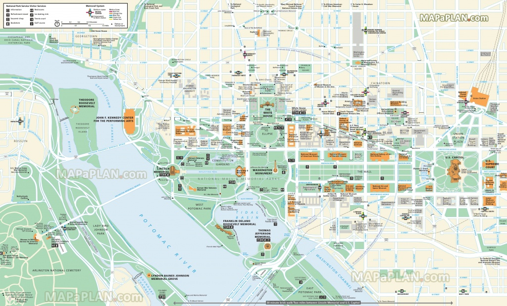Washington Dc Maps - Top Tourist Attractions - Free, Printable City - Tourist Map Of Dc Printable