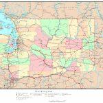 Washington Political Map   Washington State Counties Map Printable